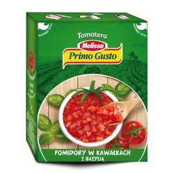 Pomidory w kawałkach z bazylią PRIMO GUSTO 390g