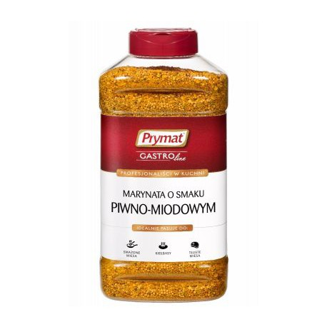 Marynata o smaku piwno-miodowym PET PRYMAT 900 g