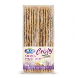 Crispy żytni z czosnkiem, sezamem i curry MELVIT 170 g