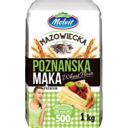 Mąka mazowiecka poznańska 500 MELVIT 1kg