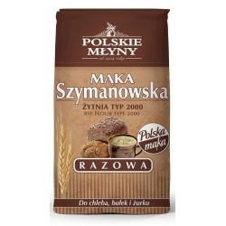 Mąka żytnia razowa Szymanowska 2000 POLSKIE MŁYNY 0,8 kg