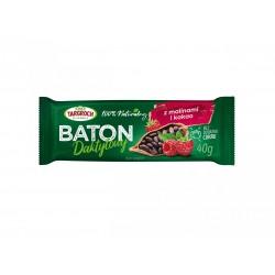 Baton daktylowy z malinami i kakao TARGROCH 40 g