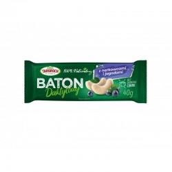 Baton daktylowy z nerkowcami i jagodą TARGROCH 40 g