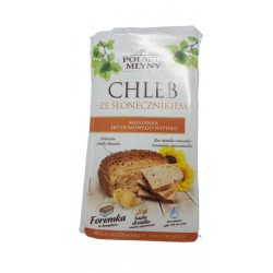 Chleb ze słonecznikiem mieszanka do domowego wypieku POLSKIE MŁYNY 300 g