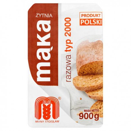 Mąka żytnia Razowa Typ 2000 POLSKIE MŁYNY 0,9kg