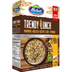 Trendy Lunch mhammas, grzyby, groszek, tymianek MELVIT 4x100g