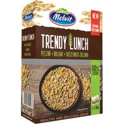 Trendy Lunch pęczak, bulgur, soczewica zielona MELVIT 4x100 g