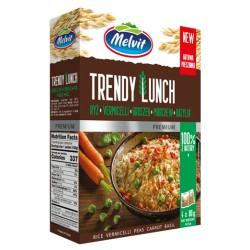 Trendy Lunch ryż parboiled, vermi, gro, bazylia MELVIT 4x80 g