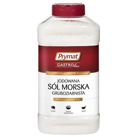Sól morska jodowana gruboziarnista PET PRYMAT 1,1kg