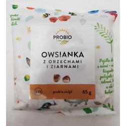 Owsianka z orzechami i ziarnami BIO PROBIO 65g